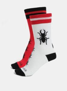 Bielo-červené unisex ponožky Fusakle Paroháč