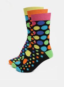 Súprava troch pánskych vzorovaných ponožiek v čiernej farbe Oddsocks Jack