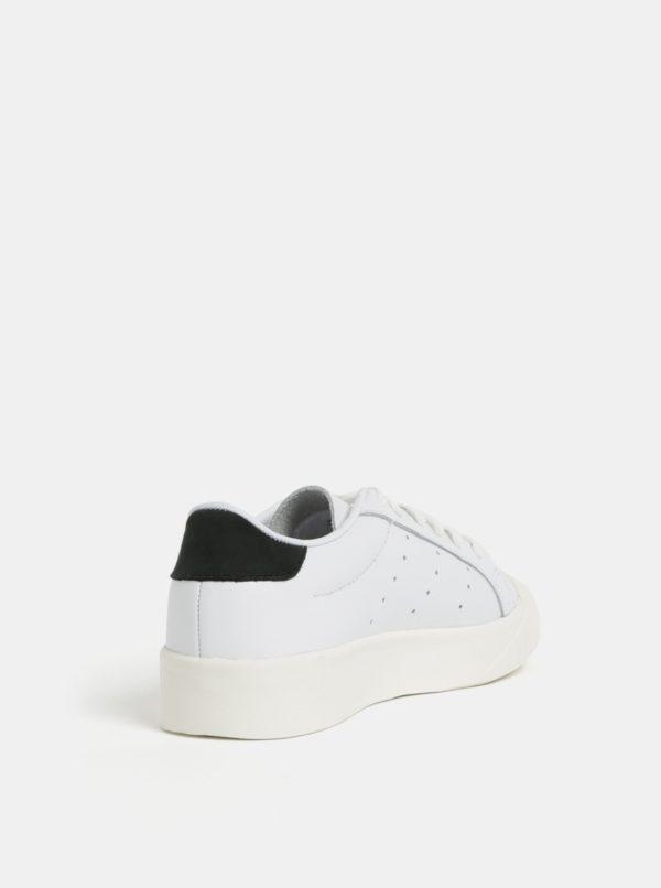 Biele dámske kožené tenisky adidas Originals Everyn  05d79b36bcf