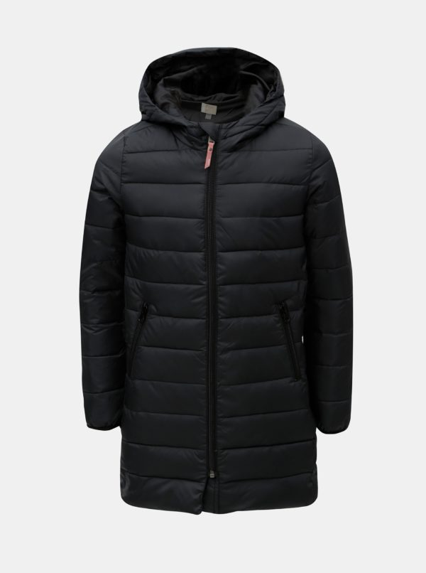 Čierna dievčenská vodoodolná bunda s kapucňou Roxy KEEP IN FLOWLEGGI