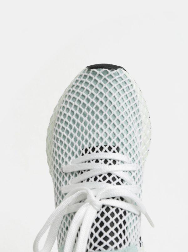 Bielo-mentolové dámske tenisky adidas Originals Deerupt Runner