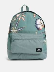 Zelený kvetovaný batoh Roxy Carribean