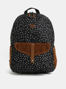 Hnedo-čierny vzorovaný batoh Roxy Shadow