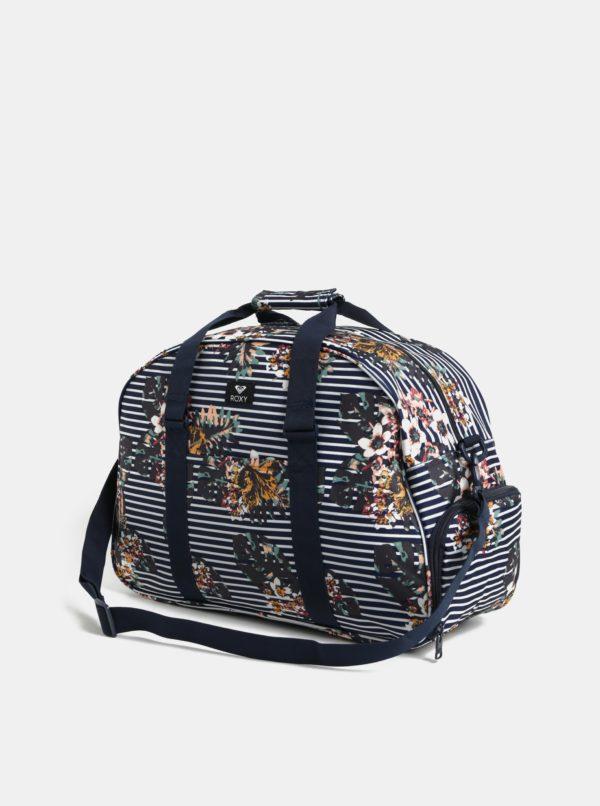 Modrá pruhovaná cestovná taška Roxy Long