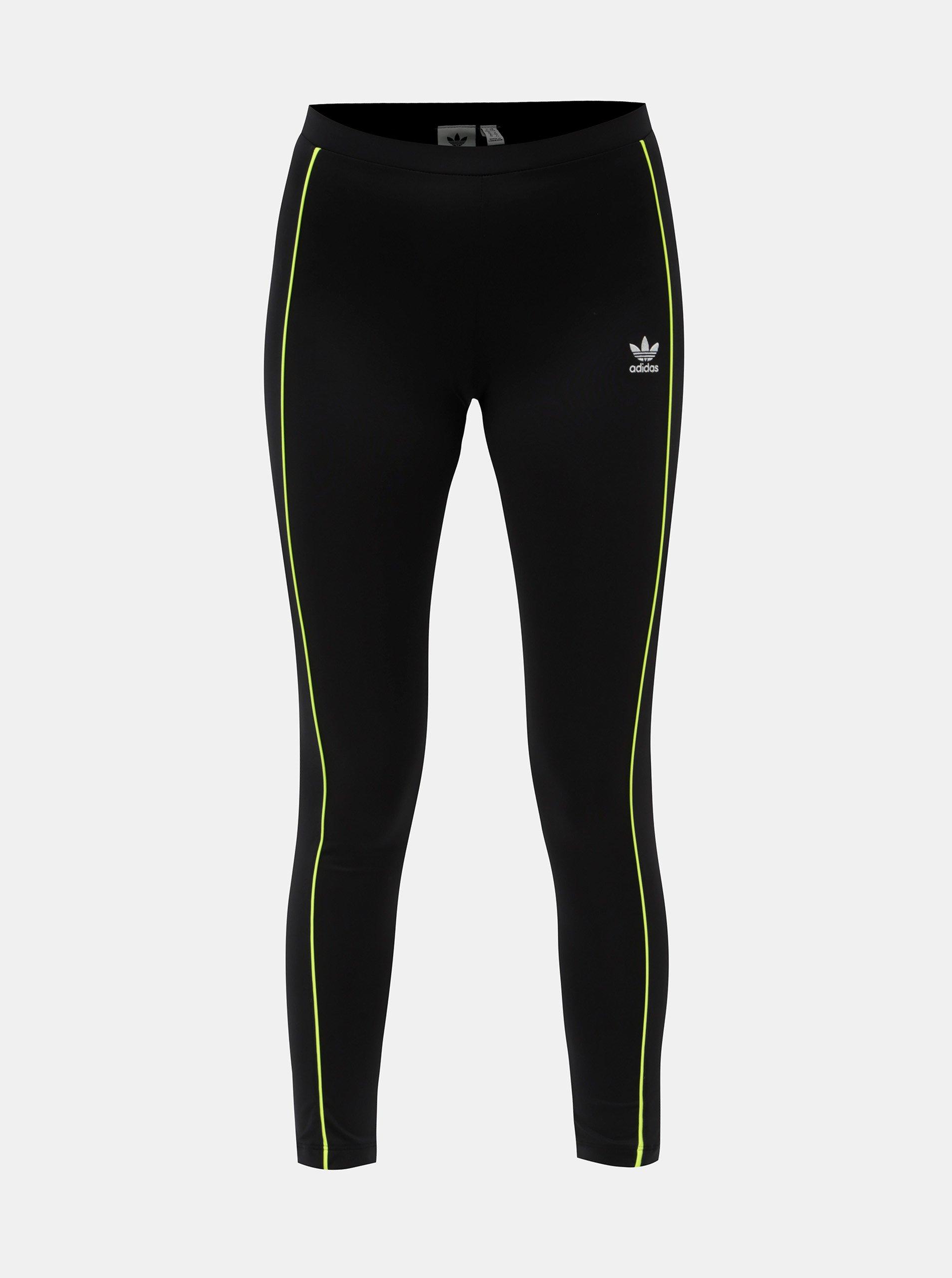 d81667acfc8c Čierne legíny s pruhmi adidas Originals