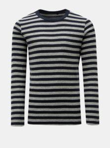 Sivo–modrá chlapčenské pruhované tričko Name it Villy