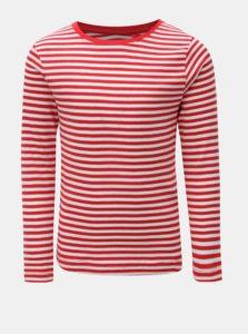 Bielo–červené dievčenské pruhované tričko Name it Verit
