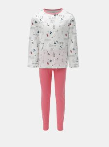 Ružovo–biele dievčenské pyžamo Name it Bublegum
