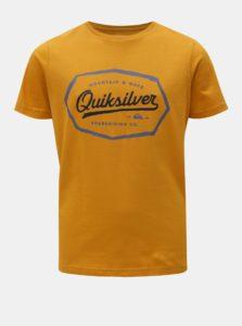 Oranžové chlapčenské regular fit tričko s potlačou Quiksilver