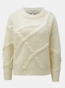 Krémový krátky sveter Selected Femme
