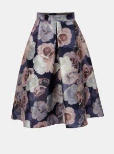 Ružovo-fialová kvetovaná midi sukňa Dorothy Pekrins