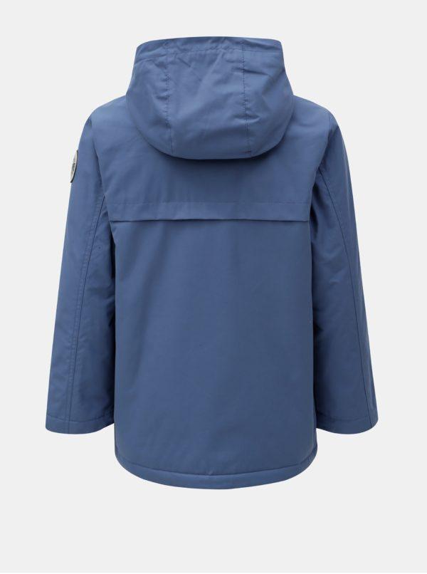 Modrá chlapčenská vodovzdorná bunda s kapucňou Quiksilver