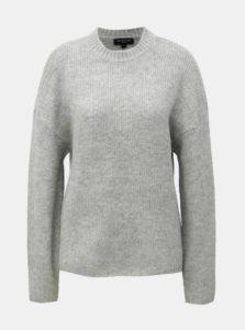 Sivý sveter s prímesou vlny Selected Femme Regina