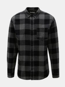 Čierno-sivá kockovaná košeľa Jack & Jones