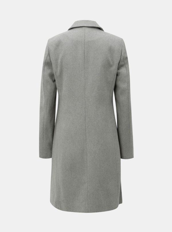 Sivý kabát so zapínaním na gombík Dorothy Perkins