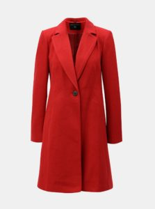 Červený kabát so zapínaním na gombík Dorothy Perkins