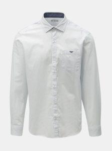 305b2cf06168 Biela pánska bodkovaná regular fit košeľa s.Oliver