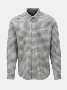Bielo-sivá pánska kockovaná regular fit košeľa s.Oliver