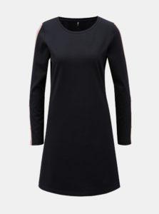 Tmavomodré šaty s dlhým rukávom ONLY Brilliant