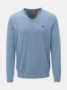 Modrý pánsky tenký sveter s véčkovým výstrihom s.Oliver