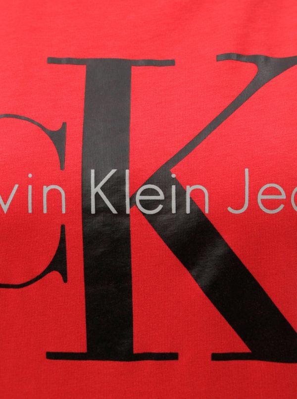 ed508fd4303f Červené dámske tričko s potlačou Calvin Klein Jeans
