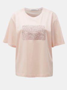 Ružové dámske tričko s potlačou Calvin Klein Jeans