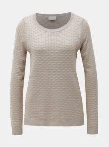 Béžový štruktúrovaný sveter VILA