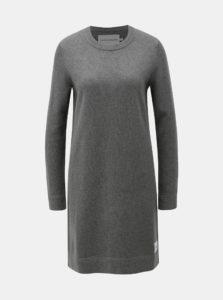 Sivé svetrové šaty s prímesou vlny Calvin Klein Jeans