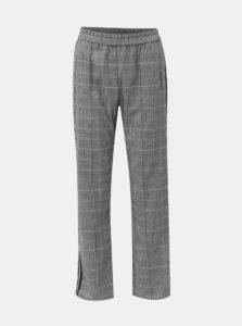 Čierno–biele kockované nohavice s bočnými pruhmi Miss Selfridge 131ea4803d7
