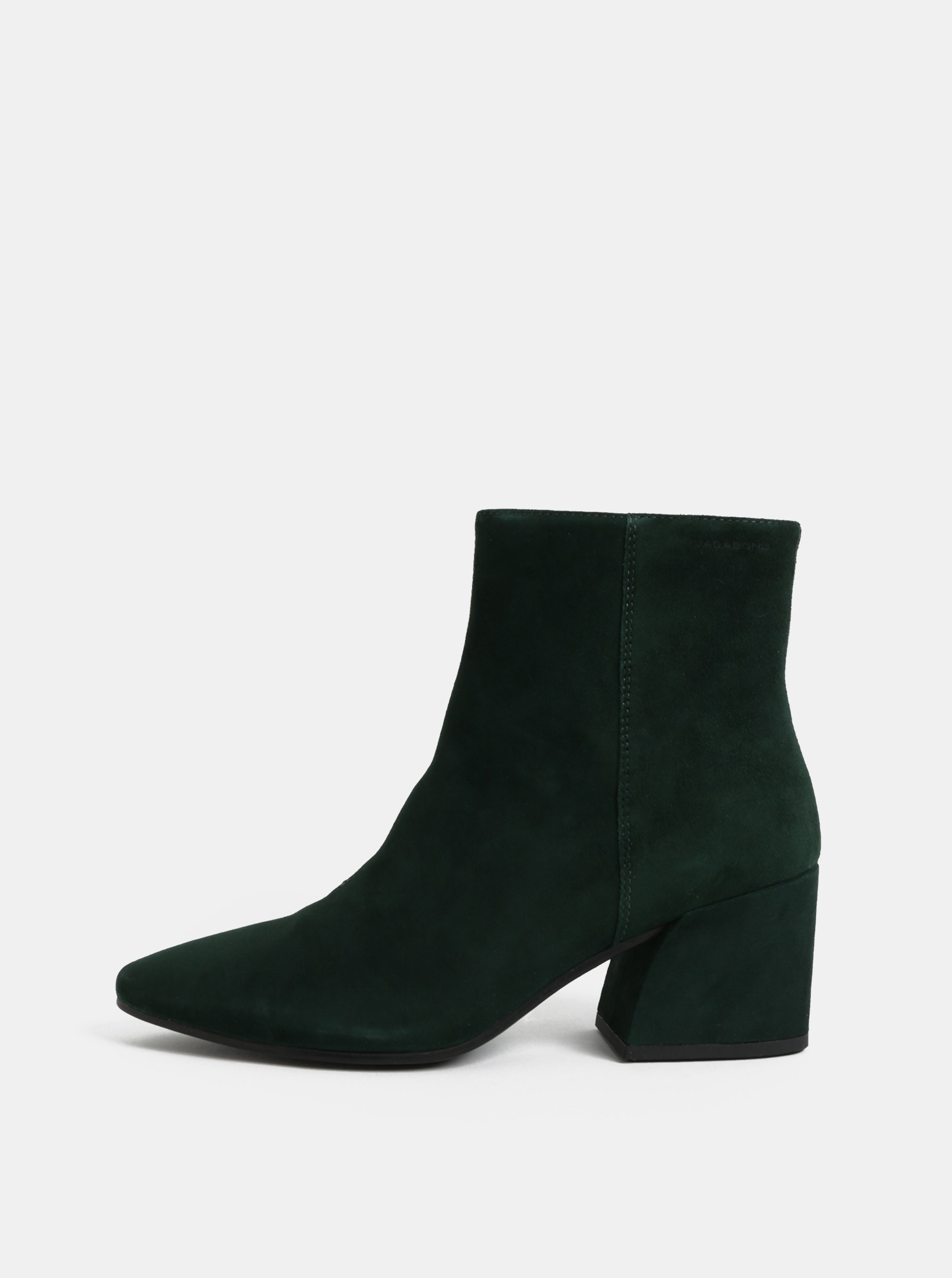 f917a23a02 Zelené dámske semišové členkové topánky Vagabond Olivia
