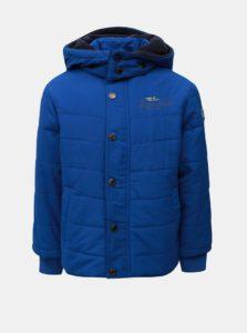 Modrá chlapčenská zimná prešívaná bunda s kapucňou Blue Seven