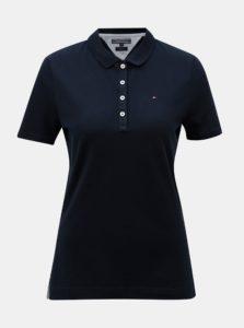 Tmavomodré dámske polo tričko Tommy Hilfiger