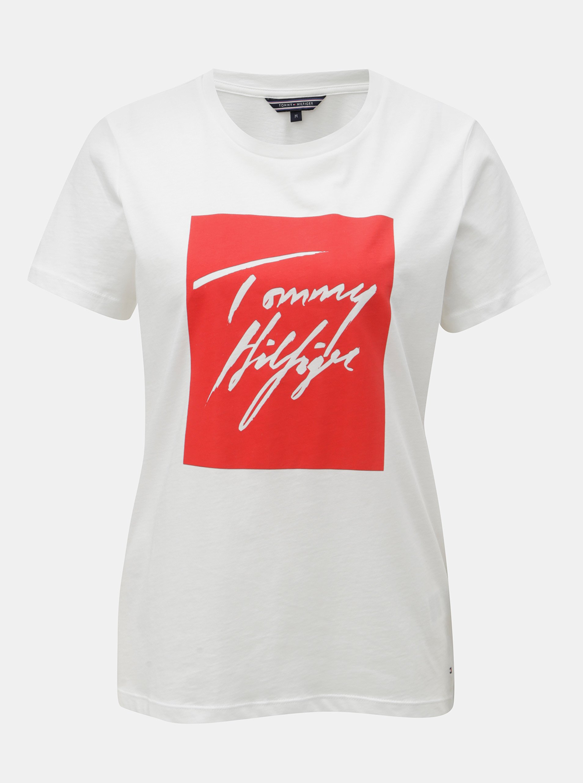 e3efd5d853d Biele dámske tričko s potlačou Tommy Hilfiger Effy