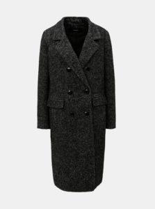 Čierny melírovaný kabát VERO MODA Highland