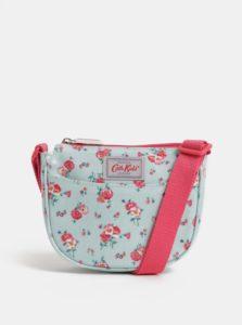Svetlomodrá dievčenská kvetovaná crossbody kabelka Cath Kidston