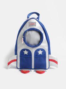 Chlapčenský batoh v tvare rakety v modrej a striebornej farbe Cath Kidston