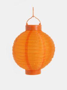 Oranžový solárny lampión Kaemingk