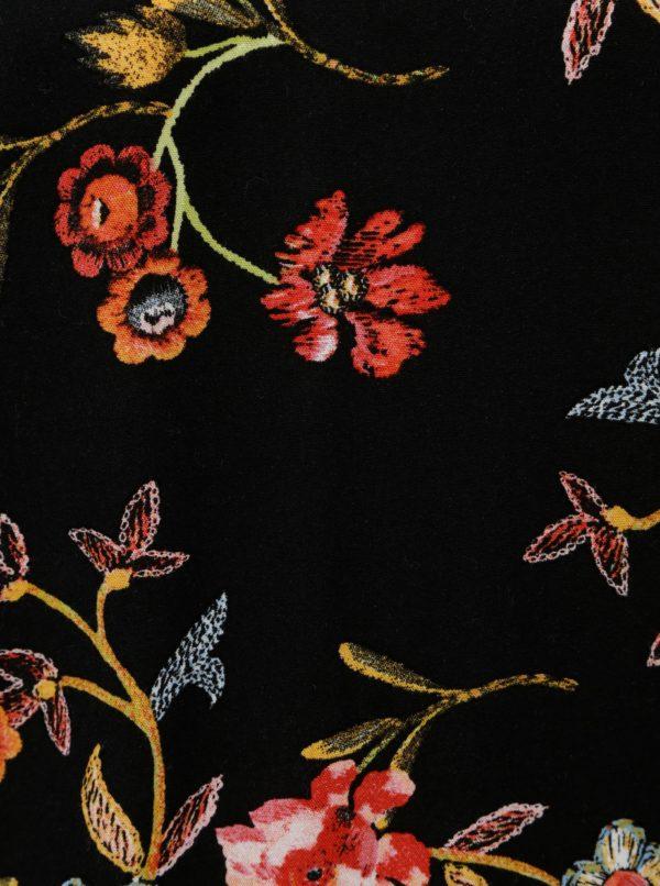 6db754268 Čierne dámske kvetované tričko s dlhým rukávom Garcia Jeans | Moda.sk