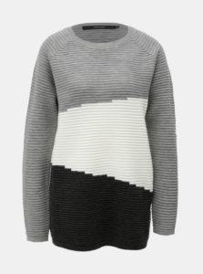 Čierno-sivý sveter VERO MODA