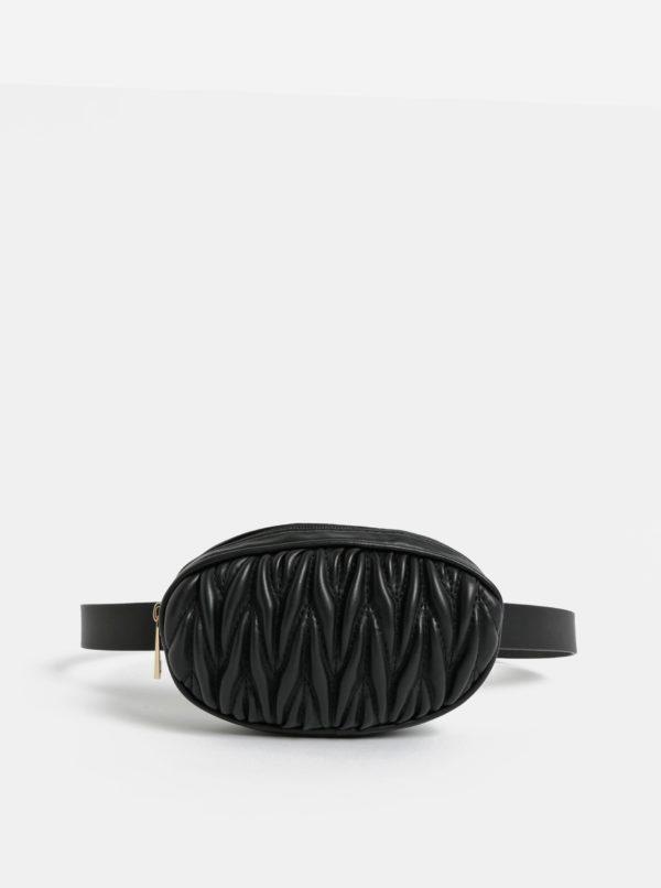 Čierna ľadvinka s plastickým vzorom Pieces Ally