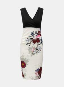 Čierno–biele kvetované šaty Scarlett B