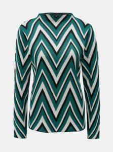 Krémovo-zelený tenký vzorovaný sveter VERO MODA