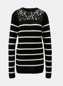 Bielo–čierny pruhovaný sveter Dorothy Perkins