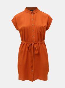 Oranžové košeľové šaty Dorothy Perkins Curve