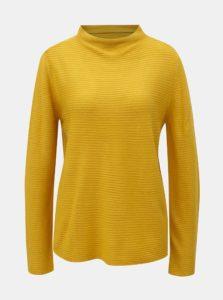 Žltý rebrovaný sveter so stojačikom Jacqueline de Yong
