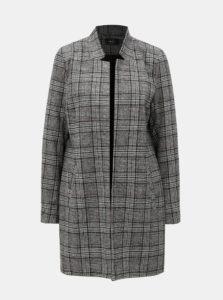 Sivý tenký károvaný kabát ONLY