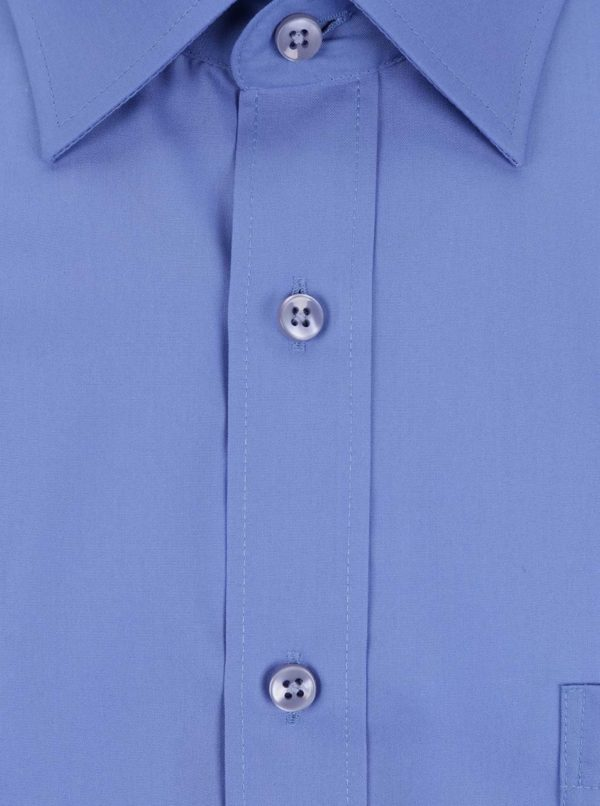Modrá pánska formálna modern fit košeľa STEVULA Royal
