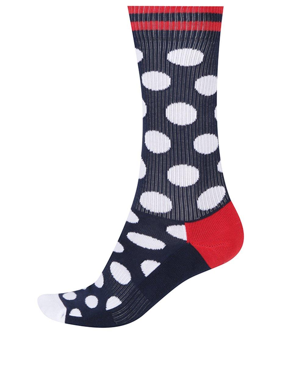 Tmavomodré pánske bodkované ponožky Happy Socks Athletic Big Dot ... 337f06b94e