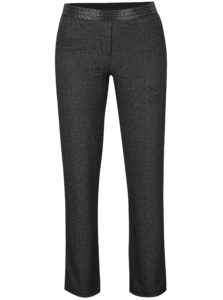 Tmavosivé nohavice s aplikáciou na leme DEHA