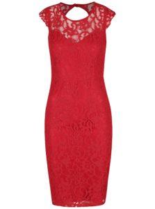 Červené čipkové puzdrové šaty AX Paris